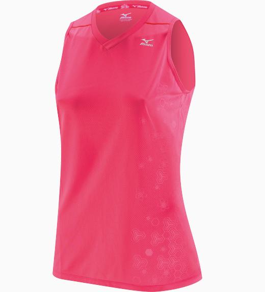 Женская легкоатлетическая майка Mizuno DryLite Singlet pink (77HW320 64)