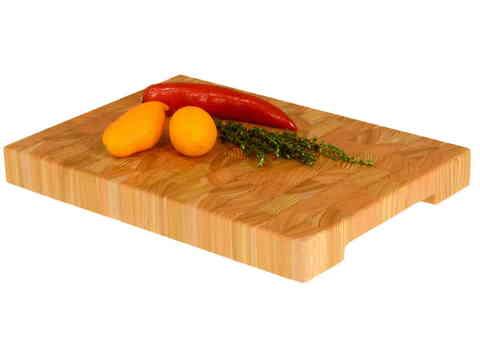 деревянная торцевая разделочная доска 35х25х4 см из лиственницы