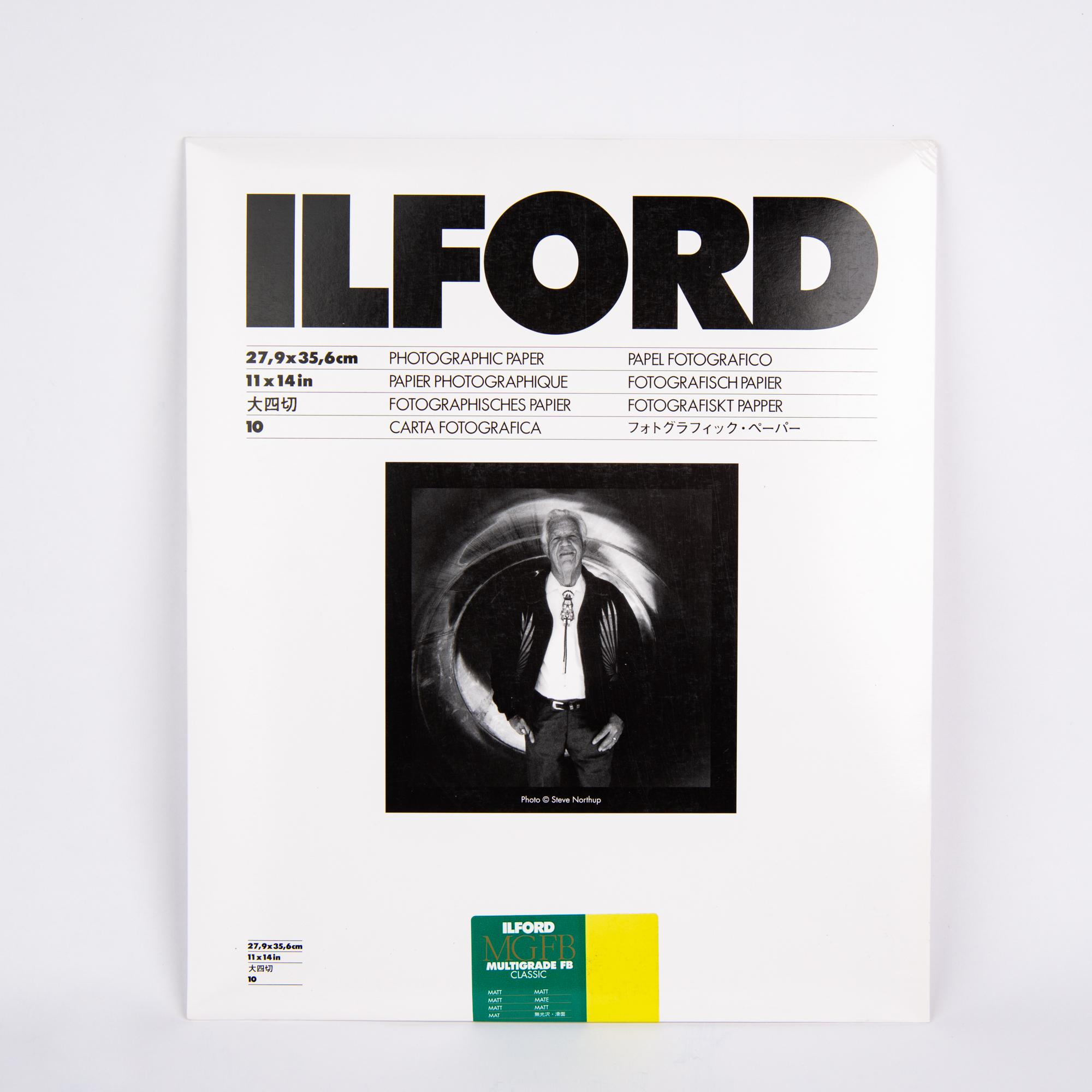 Фотобумага Ilford MG баритовая, 27.9 x 35,6 см, матовая, 10 листов
