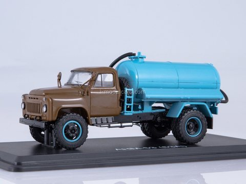 GAZ-53A Cesspool truck ANM-53 khaki blue 1:43 Start Scale Models (SSM)