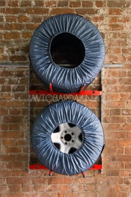 Настенный металлический стеллаж IF для 4 колес