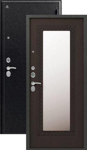 Дверь входная Сибирь S-4, 2 замка, 1,2 мм  металл, (чёрный муар+венге)