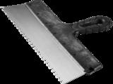 Шпатель ЗУБР СТАНДАРТ фасадный зубчатый, стальное полотно, зуб 6х6
