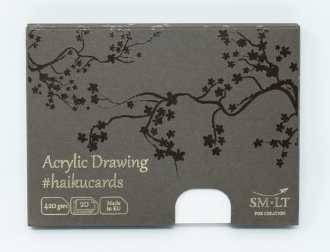 Набор открыток для акрила Acrylic #haikucards 420г/м2 14.7*10.6см 20 штук