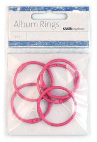 Кольца разъемные PINK -COLOR ALBUM RINGS