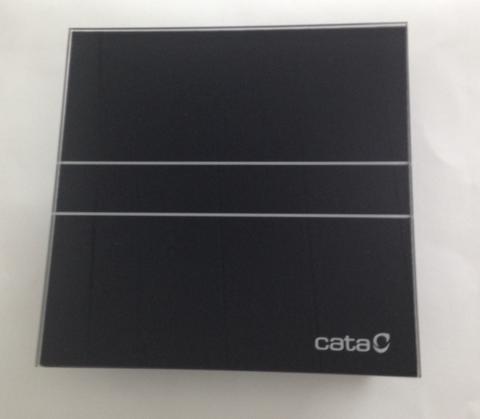 Вентилятор накладной Cata E 100 GT Bk Черный, с обратным клапаном (таймер)