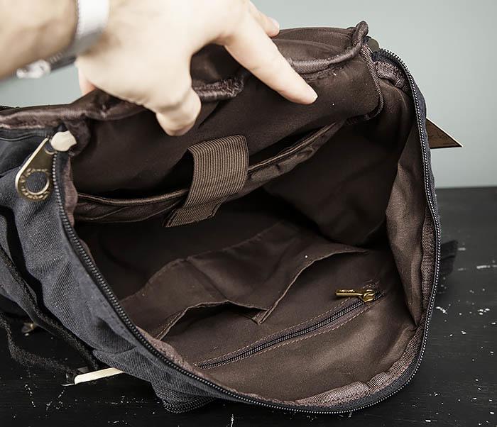 BAG368-1 Городская тканевая сумка рюкзак с ремнем на плечо фото 12
