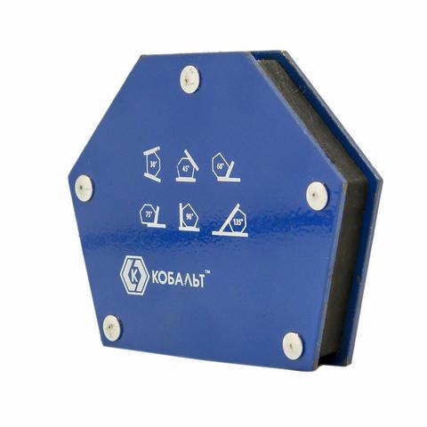Угольник магнитный КОБАЛЬТ 95 х 48 мм,  на 6 углов (30, 45, 60, 75, 90, 135), магнит до 11 кг (1 шт.) блистер