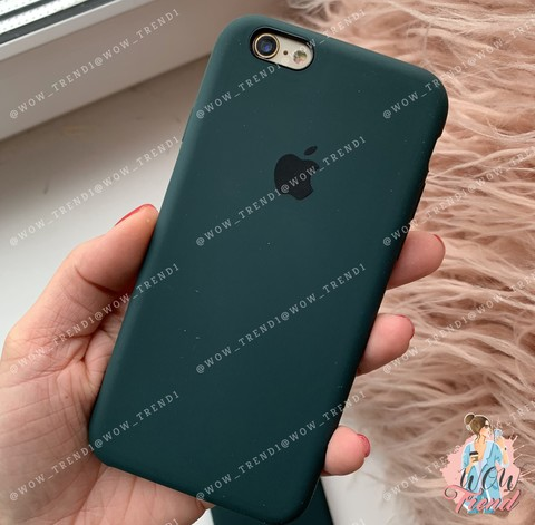 Чехол iPhone 5/5s/SE Silicone Case /forest green/ зеленый лес 1:1