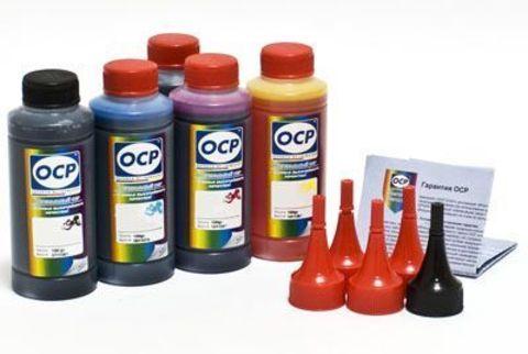 Комплект чернил OCP SAFE SET для картриджей CANON PGI-520/CLI-521, PGI-425/CLI-426 (OCP C 154, M 144, Y 144, BK 124, BK35). 100 gr x 5