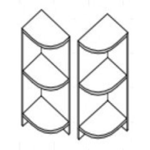 Полка нижняя (угловая) 30 Д9001-41