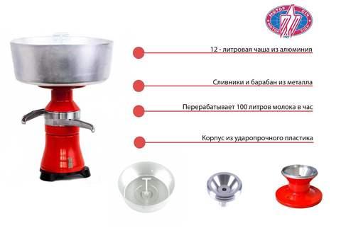 Сепаратор-сливкоотделитель Мотор Сич электрический СЦМ-100-15, устройство
