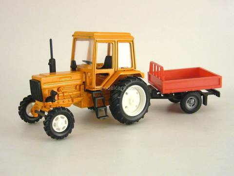 Tractor MTZ-82 Belarus metall with Trailer Bison 1:43 Agat Mossar Tantal
