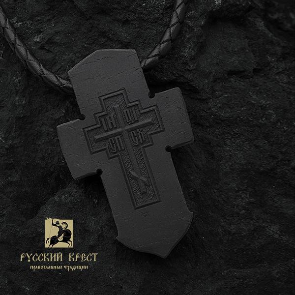 Нательный крестик православный деревянный Морской.