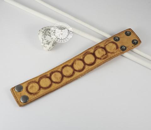 BL392-3 Кожаный браслет песочного цвета