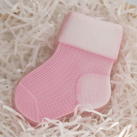 Пластиковая форма для мыла Вязаный носок левый