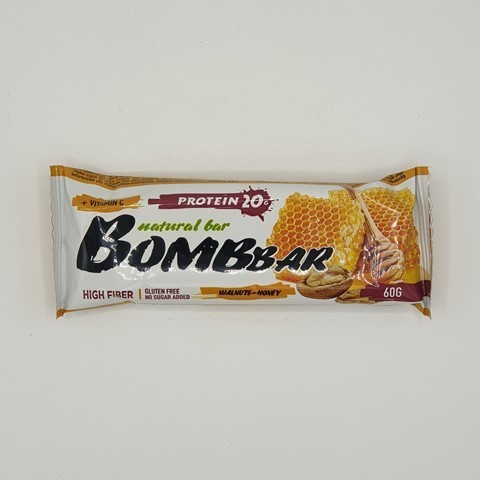 Батончик Natural Bar вкус Грецкий орех с мёдом BOMBBAR, 60 гр