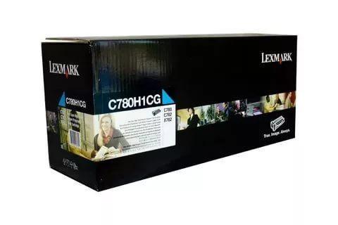 Картридж для принтеров Lexmark C780, C782 голубой (cyan). Ресурс 10000 стр (C780H1CG)