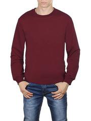 4054-6 футболка мужская дл. рукав, бордовая