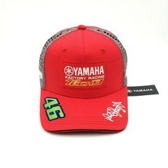 Кепка с вышитым логотипом Ямаха 46 tech 3 (Кепка Yamaha 46) красная