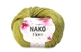 Пряжа Nako Fiore желто-зеленый 11238