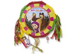 Пиньята Маша и Медведь с лентами
