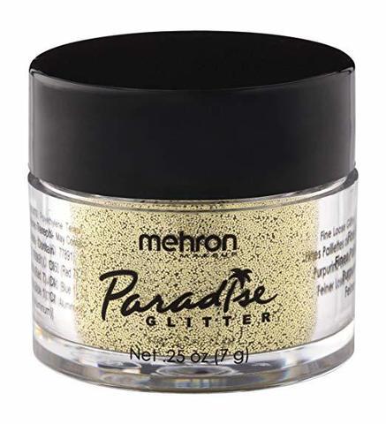 MEHRON Рассыпчатые блестки Paradise Glitter, Gold (Золото), 7 г