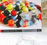 Серьги из муранского стекла со стразами Sandra Ca'D'oro Aqua 036OB