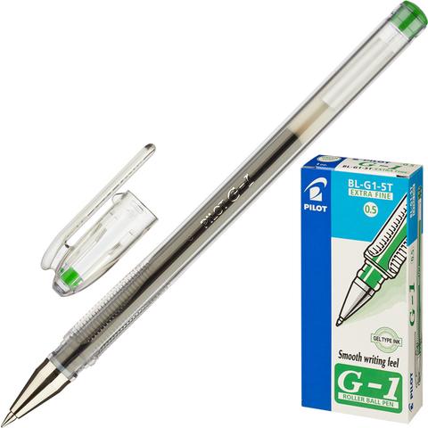 Ручка гелевая PILOT BL-G1-5T зеленая 0.3мм Япония