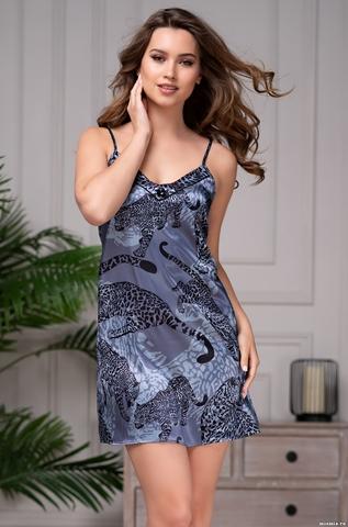Короткая ночная сорочка с принтом Mia Amore 8661 (70% натур. шел