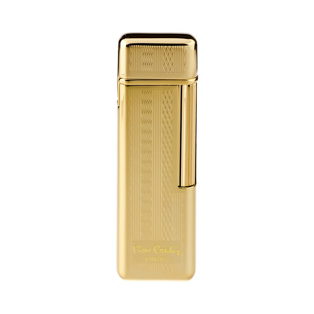 Зажигалка Pierre Cardin кремниевая газовая, цвет позолота с насечкой, 2,4х1х7,4см MF-29-04