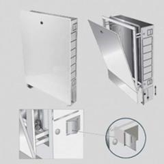 Шкаф коллекторный металлический встраиваемый UNI-FITT 594х670-760х125-195