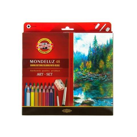 Набор акварельных цветных карандашей Koh-I-Noor 3713 Mondeluz в картонной коробке, 48 цветов