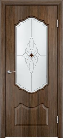 Дверь Верда Венера, стекло Сатинато Ромб, цвет венге мелинга, остекленная