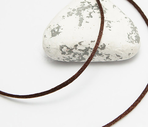 Коричневый шнурок (гайтан) на шею из шелка