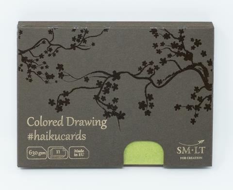 Набор открыток для смешанных техник Mix #haikucards 630г/м2 14.7*10.6 см 11 штук (разноцветные - 5 цветов)