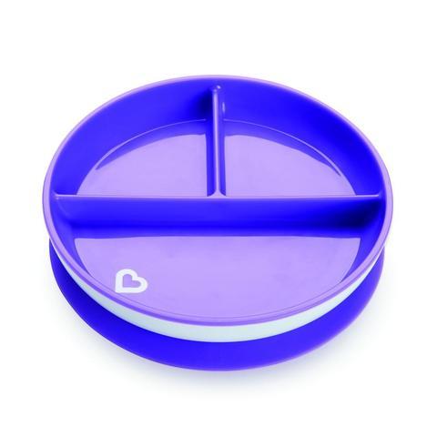 Munchkin детская тарелочка порционная на присоске Фиолетовый 6+