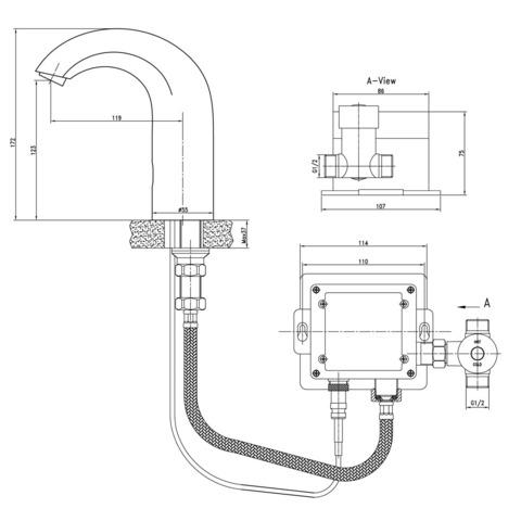 Lemark Project Смеситель для умывальника бесконтактный (сенсорный) (LM4652CE)