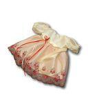 Платье из тафты - Кремовый / розовый. Одежда для кукол, пупсов и мягких игрушек.
