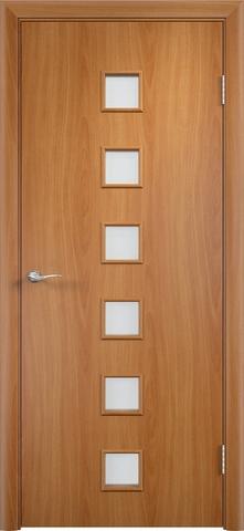 Дверь Сибирь Профиль Квадрат (С-9), цвет миланский орех, остекленная