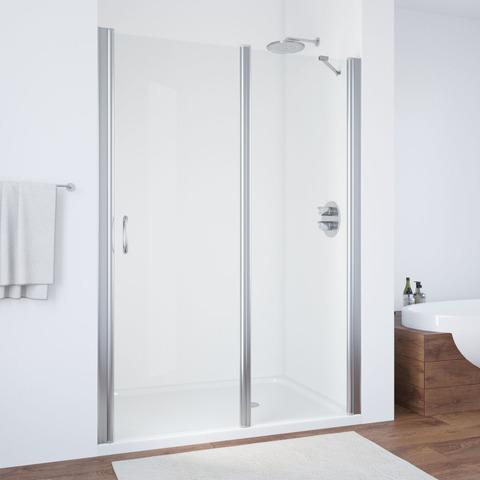 Душевая дверь в нишу Vegas Glass EP-F-1  профиль глянцевый хром, стекло прозрачное