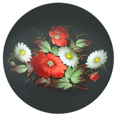 «Zhostovo poppies» master class