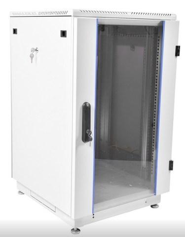 Шкаф телекоммуникационный напольный 27U (600 × 600) дверь стекло