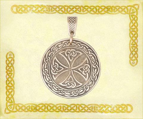 Подвеска Кельтский крест d=3,5 см