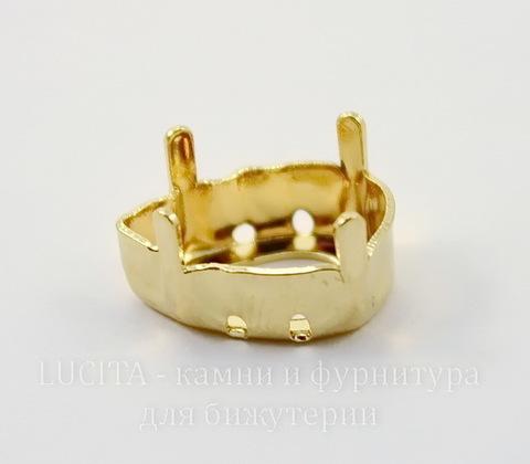 4320/S Сеттинг - основа Сваровски для страза Капля 18х13 мм (цвет - золото) ()