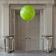 Мраморный воздушный шар 70 см. зеленый