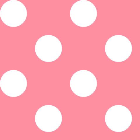 Креп сатин светло-розовый в белый горох 2,5 см