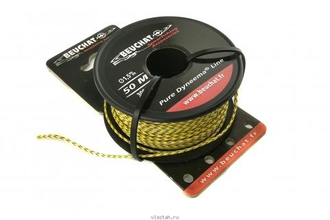 Линь Beuchat Pure Dyneema желто-черный D 1,5мм, 300 кг, за 1 метр