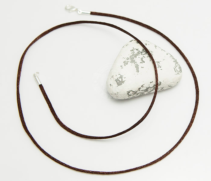 PL279-2 Коричневый шнурок (гайтан) на шею из шелка фото 02