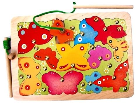 Магнитная игра рыбалка Бабочки, Крона, арт. 143-025